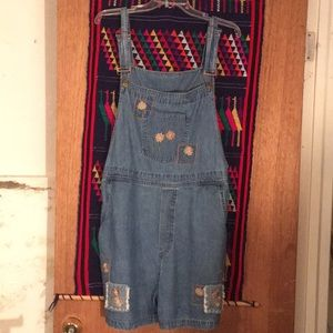 Vintage overall shorts